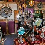 colourful bar area