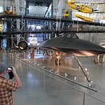 """The SR-71 """"Blackbird"""", flying from LA to DC in 1hr 4min; then donated to the museum."""