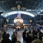 The shuttle Discovery, which completed more flights than any of the other shuttles.