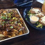 Happy hour poutine & fried green tomatoes
