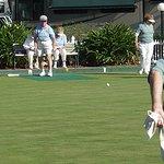 Championship lawn bowling