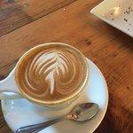 artistic design in cappuccino crema