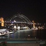 View from Cafe Sydney after sunset