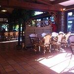 Restaurant (intérieur) Nous étions bien mieux qu'au marathon dehors ;)