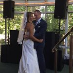 our first dance on the back porch. Such a great place to dance the night away!