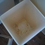 Kitchen bin, and dirty floor