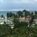 View from our ocean front balcony - see pool too