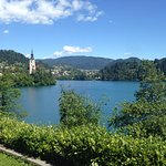 View from hotel towards Lake Bled