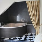 .The tub in the bedroom was wonderful