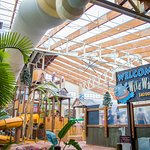 The water dome indoor water park