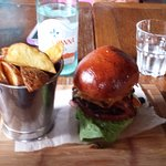 Irish burger with triple cooked chips