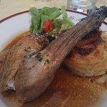 Poulet et gratin dauphinois (menu à 17 euros)