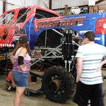 In the shop getting ready to go on the road