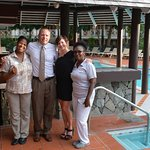 "@ the ""quiet pool"" - Agnes and massage therapist Dawn (highly recommended!)"