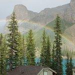 Foto vom Balkon der Lakeview Cabin
