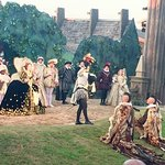 This was a wonderful scene with Queen Elizabeth I, Sir Walter Raleigh and two Indians.