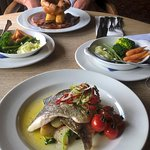 sea bream & roast beef off the sunday menu