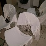 Trying to dry clothes after hotel refused to