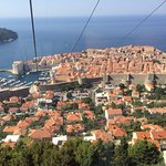 View of Dubrovnik from the top of the cable car
