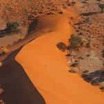 bei einem Rundflug über die Namib