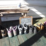 6 pairs of hiking boots ready for the A.T.
