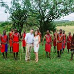 Our Masai wedding in front of the salt lick!