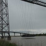 Vue depuis Echillais du Transbordeur et du pont de Martrou