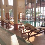 Indoor pool at spa