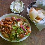 La Feast Royal Oak MI .. Fattoosh Tawook Salad.