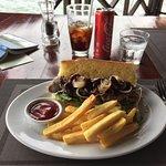 Steak sandwich lunch