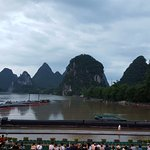 Location of light show amphitheatre in Yangshuo before sundown