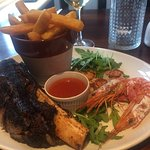 Summer menu: surf turf and more turf. Delicious.
