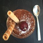 Wonderful homemade pasta, very nice desserts and coffee. Extraordinary good service. Calm cosy l