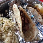 Grilled Steak taco (LEFT) Baroque (pork) taco (RIGHT