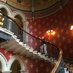 Part of the grand staircase of the St Pancras Hotel