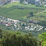 Campsite from Monte Brione