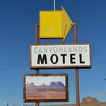 Sign has road to Monument valley on it-nice touch