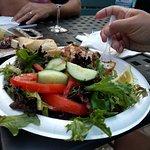 Mahimahi and salad