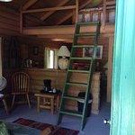 Cabin loft with queen bed