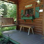 Cabins come with porch swings