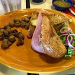 Hacienda Torta Cubana Sandwich with mushrooms