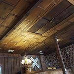 wood panel ceiling