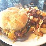 All-American Burger w/ Potatoes