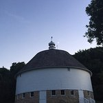 The Round Barn at night.