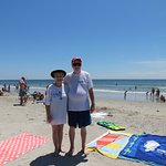 On the beach at The Compass Cove Resort
