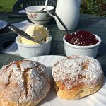 A view of the Quantocks and a pair of scones, though not necessarily at the same time.