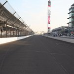 The frontstretch on race morning 2016