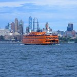 Passing by Brooklyn and a Stattan Island Ferry