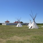 Tepees outside Fort Union Trading post