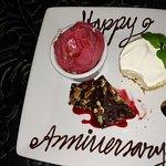 Happy Anniversary Surprise Dessert